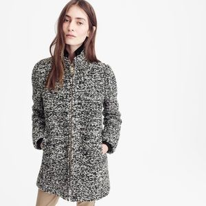 NWT J Crew Lodge Coat Speckled Boucle Wool 2 Tall
